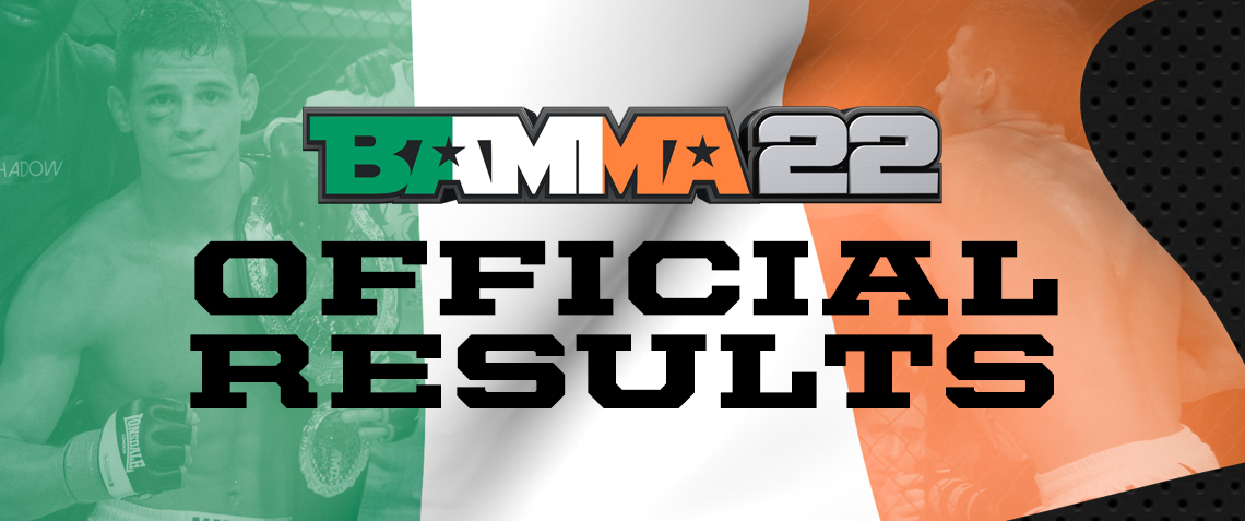 BAMMA 22 Official Results