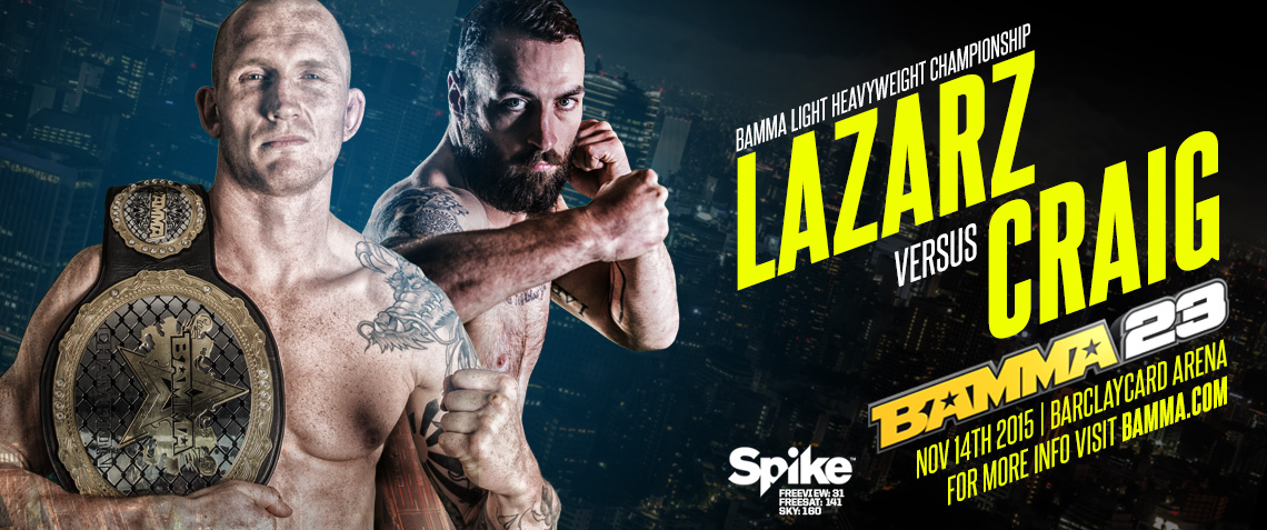 Light Heavyweight Title Bout Added To BAMMA 23