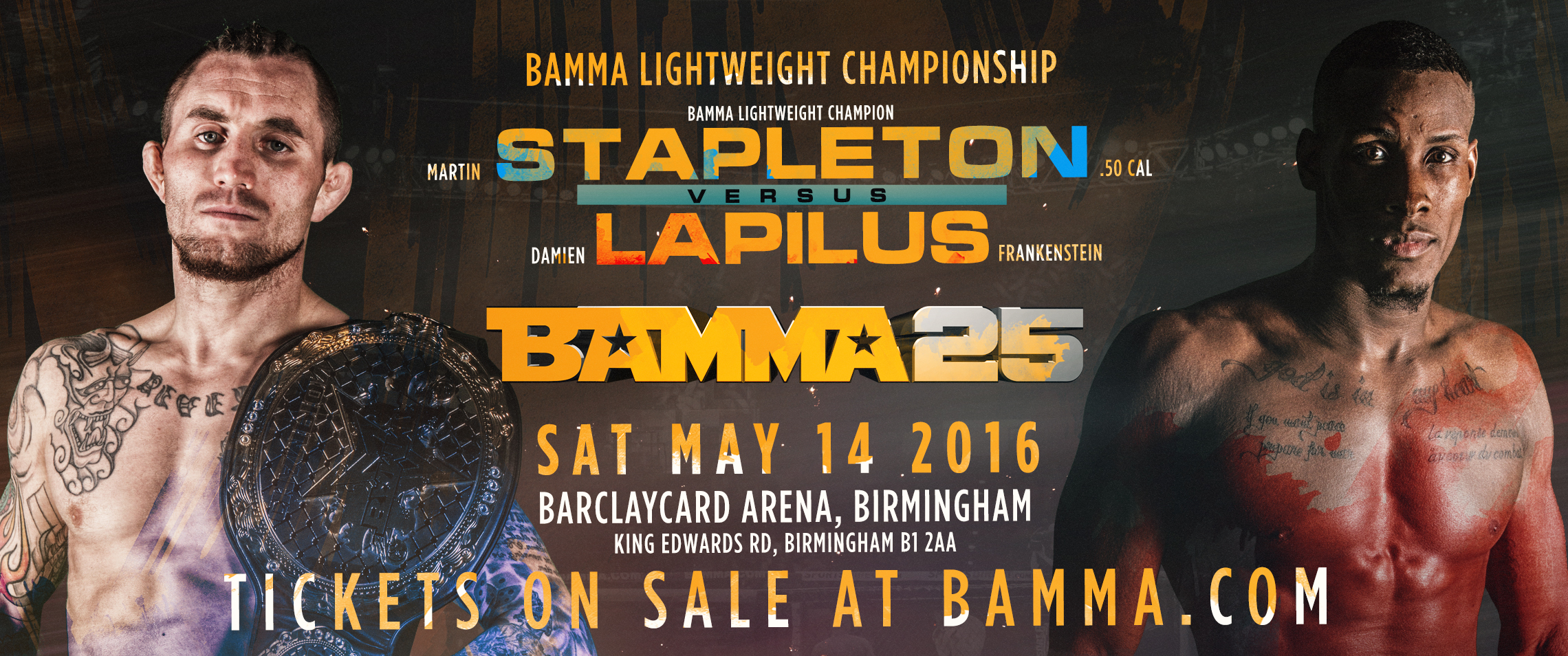 First BAMMA Title Fight Added To BAMMA 25