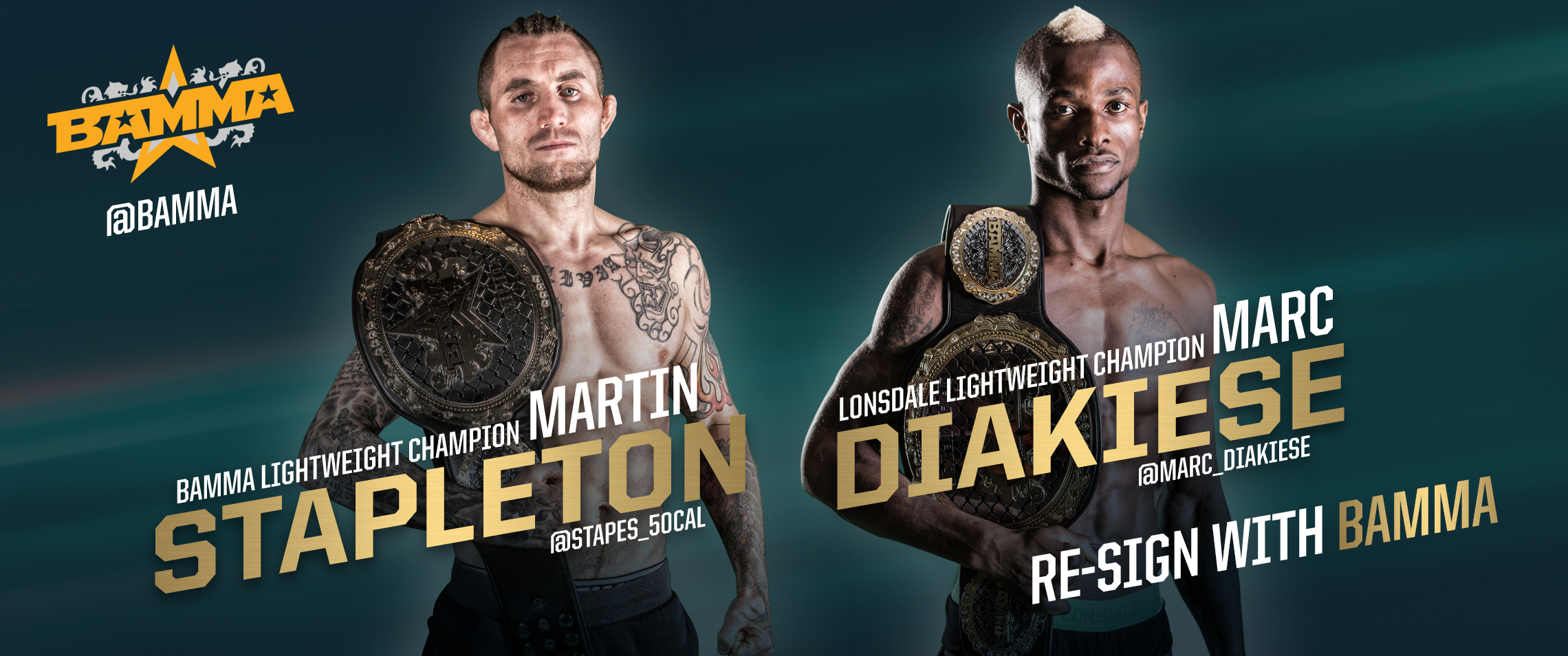 4 New Multi-fight deals for the BAMMA Lightweight Division