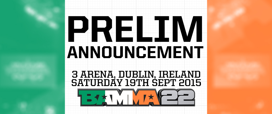 Another 3 Prelims Lineup At BAMMA 22