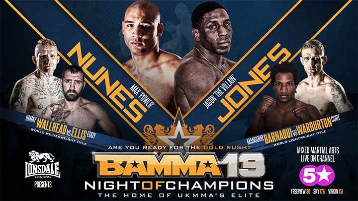 Finalised Fight Card & UK TV Schedule for BAMMA 13