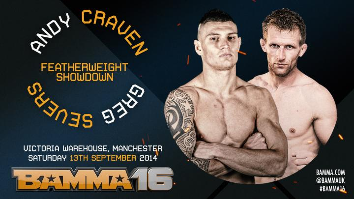 Craven Vs. Severs joins the BAMMA 16 Lineup