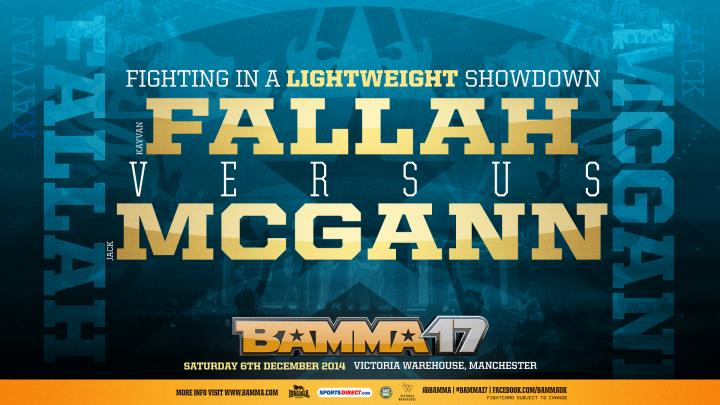 McGann signs with BAMMA & faces Fallah at BAMMA 17