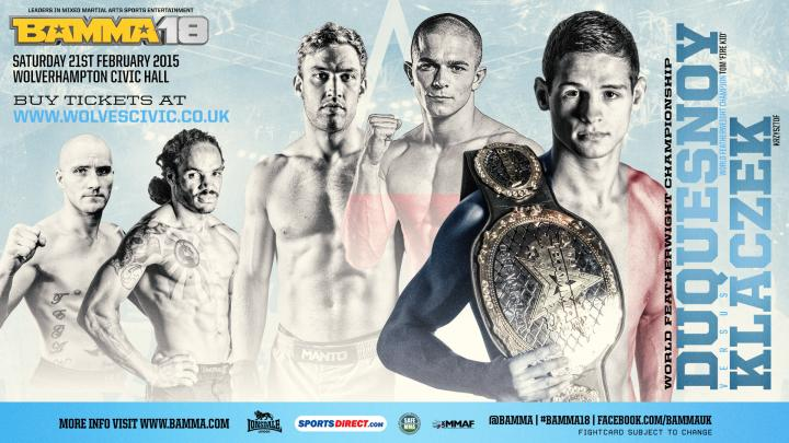 BAMMA 18 Official Results