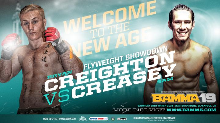 Creighton Vs. Creasey, Monarch Vs. Johnson added to BAMMA 19