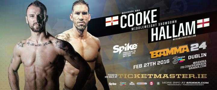 Cooke Vs. Hallam Added to BAMMA 24