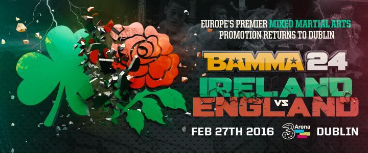 BAMMA 24 Announced for Dublin Ireland Feb 27th 2016