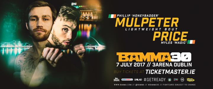 Mulpeter Vs. Price Joins The BAMMA 30 Fightcard