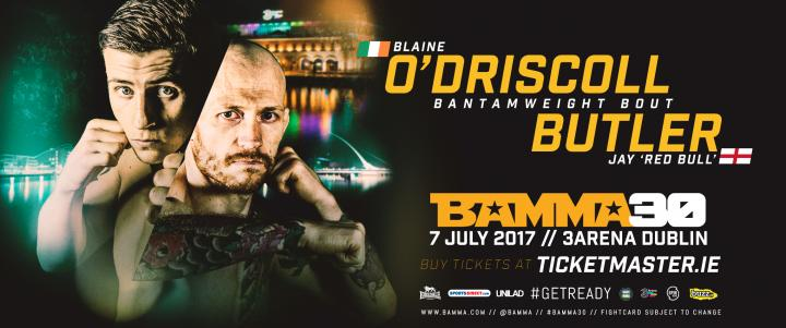 Jay Butler Faces Blaine O'Driscoll At BAMMA 30