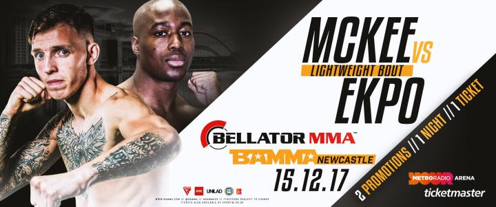 Rhys McKee To Face Kams Ekpo At BAMMA Newcastle