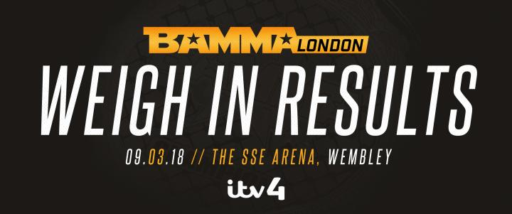 BAMMA 34 Official Weigh In Results