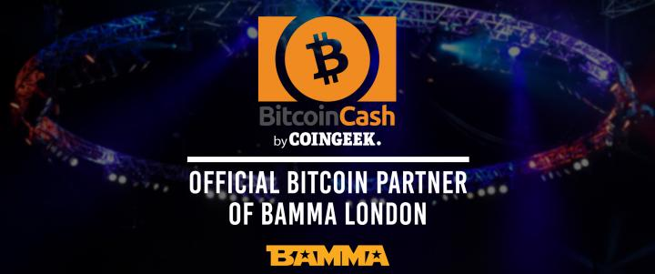 Bitcoin BCH sponsors ITV4 televised BAMMA Fight Night