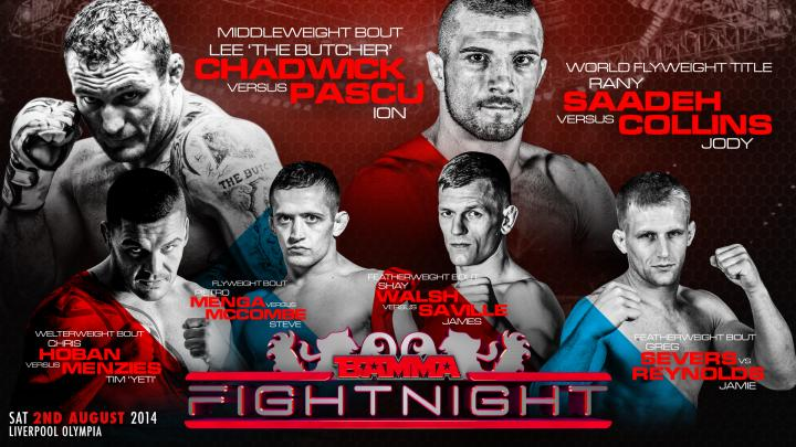 Flyweight Title & 4 more fights added to BAMMA Fight Night 2
