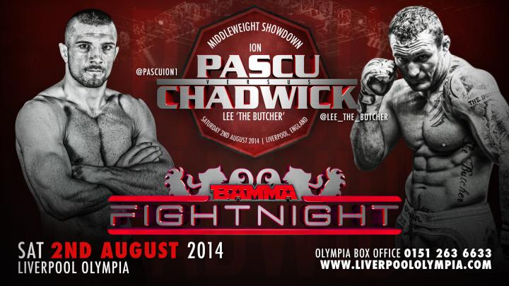 BAMMA Fight Night:  Pascu vs. Chadwick card finalised