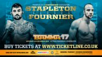 Petley & Dearden out of BAMMA 17.  Fournier & Bentley In.