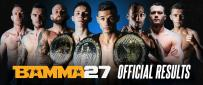 BAMMA 27 Official Results